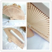 [I AM YOUR FANS]Free shipping 150pcs/lot Personalized wood fans +white paper box to USA