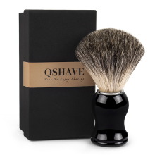 Qshave Man Pure 오소리 Hair 면도 Brush 100% Original 대 한 Razor Edge Safety Straight Classic Safety Razor 11.5 센치메터 x 5.2 센치메터(China)