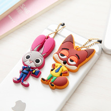 For iPhone Accessories Cat Plug Cute Animal Universal Headphones Earphone 3.5mm Jack Dust Plug Cover Case