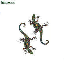 Maruoxuan New Abstract Design Ethnic Pattern Wall Decal Colorful Flower Pattern Gecko Wall Stickers For Kids Rooms Decoration