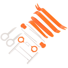 12pcs Car Radio Door Clip Panel Trim Removal Pry Tool For Nissan Qashqai Juke NV200 Note Pathfinder Leaf Tiida X-Trail