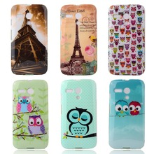 Fashion Owl Tower Flag TPU Soft Case For Motorola Moto G XT1028 XT1031 XT1032 XT1033 Back Cover Mobile Cell Phone ShockProof Bag