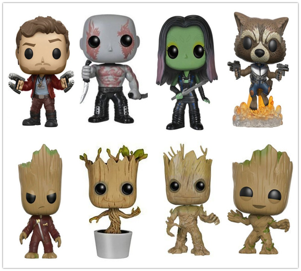 Funko POP Guardians of the Galaxy Action Figure Model PVC Figuras Rocket Groot Action Figures toys Gifts