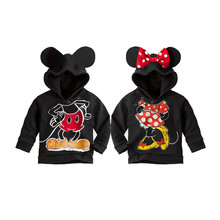 cute baby kid sweatshirt coat cartoon minnie mickey costume hoodie coat  for 1-6yrs children little boys girls outerwear clothes