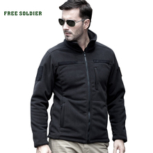 FREE SOLDIER Outdoor Sports Camping Hiking Jackets Men's Clothing Tactical Fleece Jacket Warm Fleece Coat For Men(China)