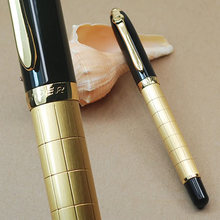 Baoer 701 High Quality Business Design Squares Black And Golden Fashion Roller Ball Pen
