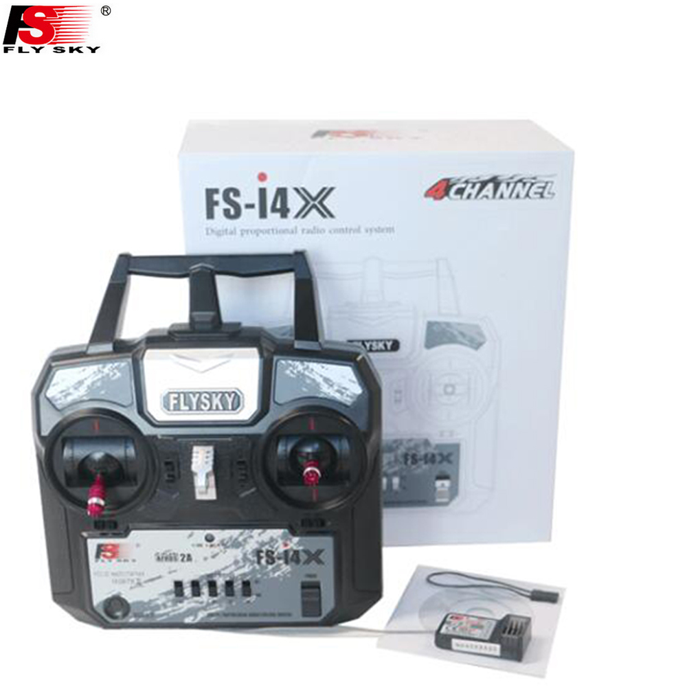 Register shipping Original Fly Sky FS-i4X 2.4G 4ch RC Transmitter Controller with FS-A6 Receiver For RC Helicopter Plane Quadcop<br>