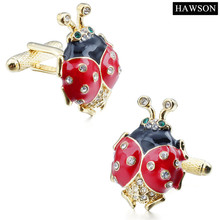 Wholesale Cuff links Fashionable Beetle Animal Cufflinks with Crystal  Best Gift For Mens Shirt