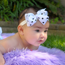 TWDVS Newborn Bow Knot Hair Elastic Bands Kids Ring Hair Accessories Bowknot Flower Headband W005