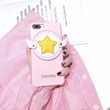 Super Cute Sailor Moon Serena Tsukino Sailor Angel Wings Sakura Cortex Case Cover For Iphone6 6S 7 7S 8 6P 7P 8P X(China)