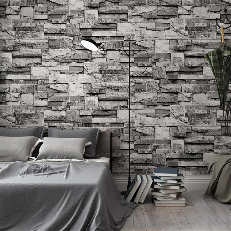 Beibehang 3D simulation stone wallpaper retro stone Home decoration  bricks personality living room 3d wallpaper papel de parede<br>