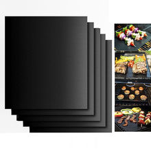 2017 New BBQ Grill Mat Set 40*33cm BBQ GRILL MAT set of 2 sheets Reusable Non-stick Make Grilling Easy(China)