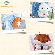 LeadingStar Lovely Plush Animals School Bag Stuffed Hamsters Doll Backpack Stuffed Shoulders Bag