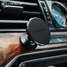 Cafele Magnetic Car Phone Holder 360 Degree Rotation Aluminum Alloy Magnet Car Mount Holder for iPhone Samsung Xiaomi(China)