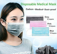 20 Pieces/Pack Disposable Professional Medical Anti Dust Healthy Carbon Face Mask 3 Layers/4 Layers Mouth Masks GYH
