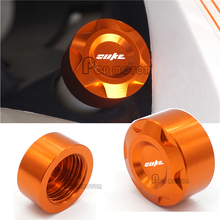 Hot sale Motorbike CNC Aluminumn Orange Radiator Water Pipe Cap For KTM DUKE 125 200 390 High quality(China)