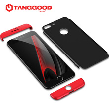 For iPhone 7 Case / 7 Plus / 6 / 6S / 6 Plus Phone Case Protective Three-stage 360 Degree Covered Scrub cover