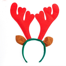 Lovely Christmas Elk Hair Bands Hair Accessories Elk Antlers Cartoon Cotton Headband Holiday Decoration Christmas Supplies