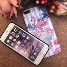 For iphone 6 Case Soft TPU Fashion Beautiful Pattern Decal Flamingo Girls For iphone 6 Plus Case PC 2 in 1 Phone Case Cover(China)