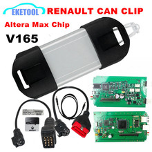 Top Rated 2017 Newest V165 Renault Can Clip Professional Diagnostic Scanner Multi-Language Good PCB Board Normal Chip Renault