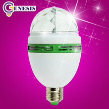 LanChuang disco light Festival led stage light E27 RGB bulb Full Color 3W Crystal Magic DJ lights dance party effect Lamp