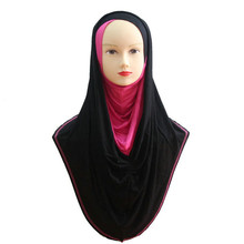 Muslim Scarfs Women Lady's Muslim Inner Hijab Caps Islamic Full Cover Model Big Hijab Hats Islamic Underscarf Arab Headwear