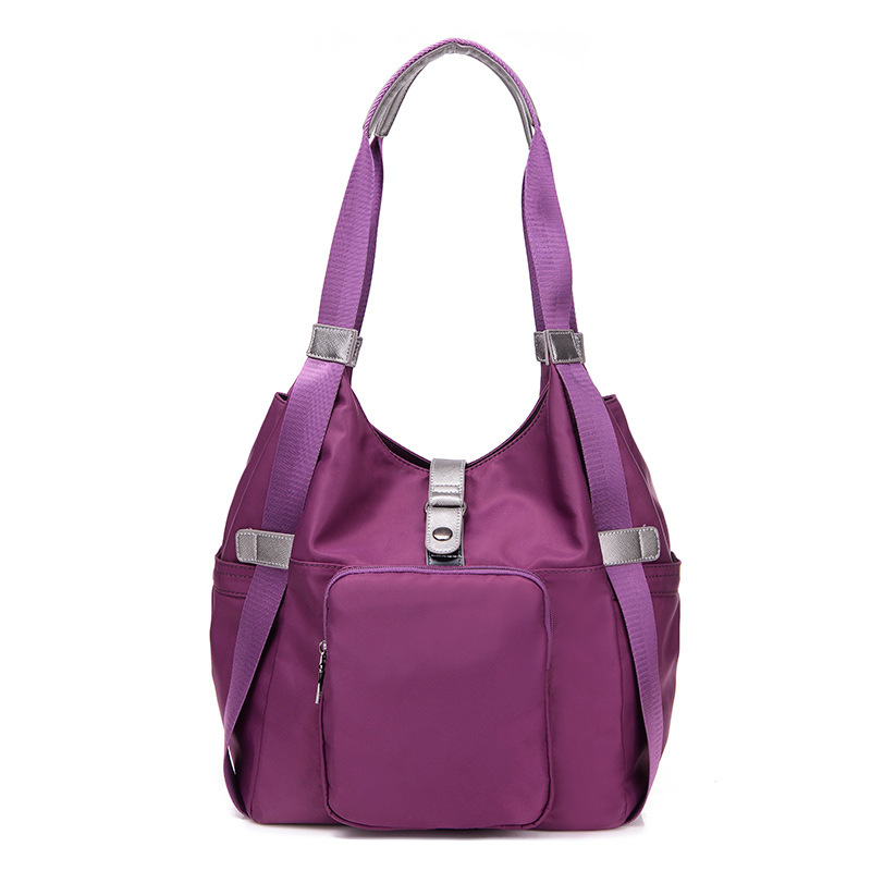 Brand New Waterproof Nylon Handbag Women Half Moon Cool Single Shoulder Bag Ladies Fashion Pure Color Handbags Large Capacity<br><br>Aliexpress