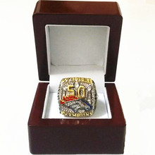 Size 6 To 15! MANNING!! 2016 New Arrival 2015 Denver Broncos Super Bowl 50 Championship Ring Replica Wooden Box Drop Shipping(China)