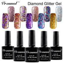 Vrenmol 3D Brilliant Diamond Glitter Gel Lacquer Soak Off Long Lasting UV Led Nail Polish Shimmer Fingernail Gel Lak Art