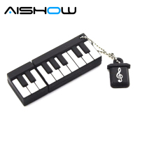 100% real capacity Retail Genuine Silicone Piano USB Flash Drive 512GB Thumb Pen drive Memory Stick Flash Disk 8G 16GB 32GB gift(China)