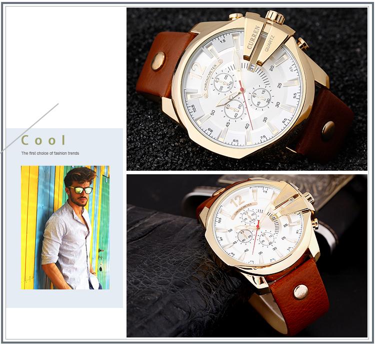 18 Style Fashion Watches Super Man Luxury Brand CURREN Watches Men Women Men's Watch Retro Quartz Relogio Masculion For Gift 13