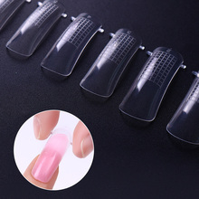 100Pcs/Set Quick Building Poly Gel Mold False Nail Tips Nail Art UV Builder Gel Fake Nails Manicure Nail Extension Kit(China)