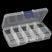 Empty Storage Case Box 10 Cells Convenient for Nail Art Tips Gems #4801