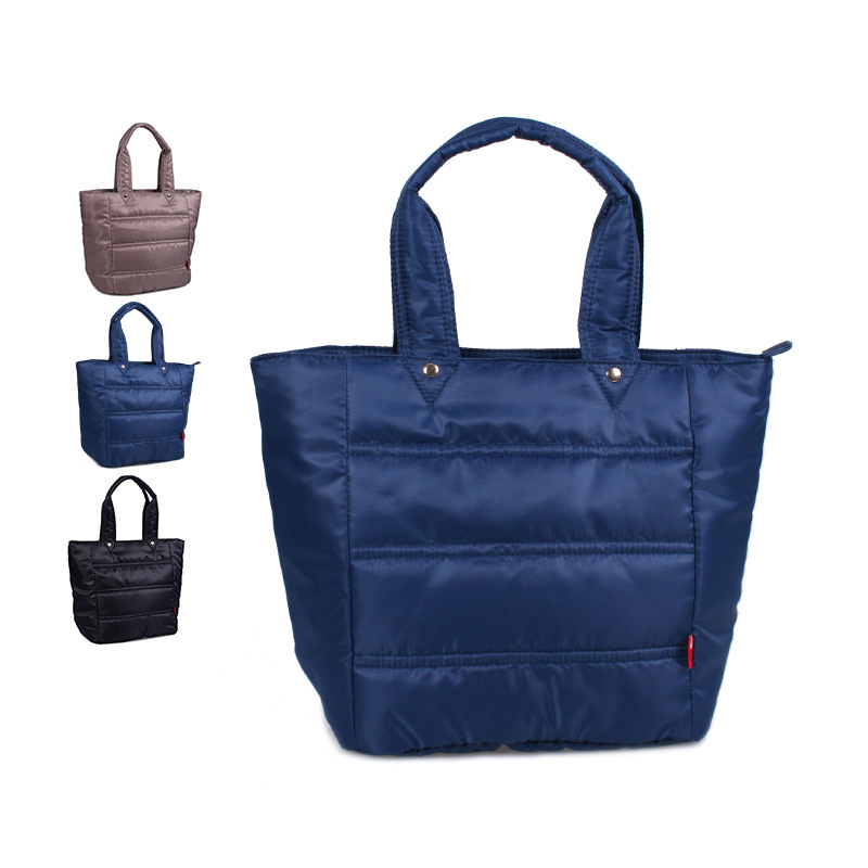 Winter Large Capacity Women Waterproof Nylon Warm Handbag Casual Tote Fashion Fold Over Bag Female Bolsos <br>