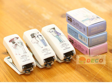 (1sets/lot ) New cute stapler with one box staples Good quality staplers set Office supply Wholesale ( ss-6367-1)(China)