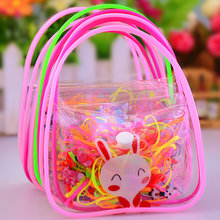 Color Random Children Disposable Rubber Band Continued Strong Pull Foreign Trade High Elastic Rubber Band Hair Circle Kids Gift