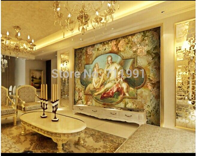 Custom large 3D murals angel love European television sofa bedroom wall mural wallpaper background papel de parede<br>