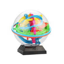 New 138 Barriers Original 3D Puzzle Ball Maze Brain Teaser Labyrinth Ball Toys Intellect Endurance Game Stages Kid Birthday Toy