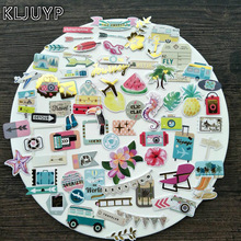 KLJUYP 70pc Travel Holidays Cardstock Die Cuts for Scrapbooking Happy Planner/Card Making/Journaling Project