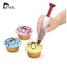 FHEAL Top Quality Silicone Chocolate Salad Sauce Pen For Decorating Cookies Cake Pastry Baking Tools