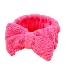 Fashion Women Beauty Makeup Bow Headband Bath Wash Face Hairdo Elastic Towel Headwear Female Hair Holder Bands Headpiece Gift(China)