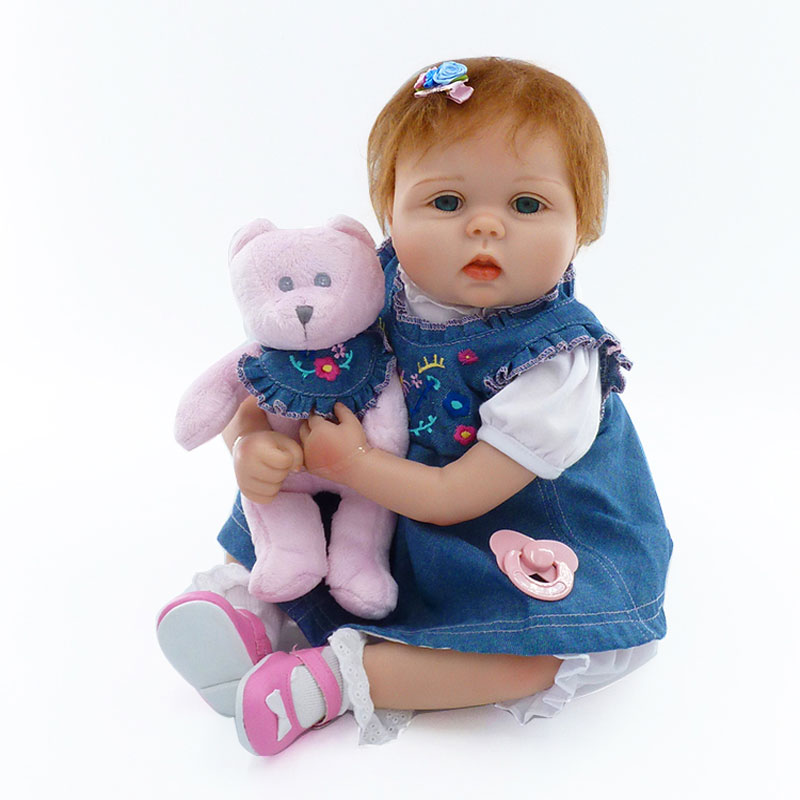 22inch Mohair Reborn Baby Dolls Babies 55cm Soft Silicone Reborn Dolls Lifelike Bonecas Newboen Babies Toys Brinquedos For Girl<br><br>Aliexpress