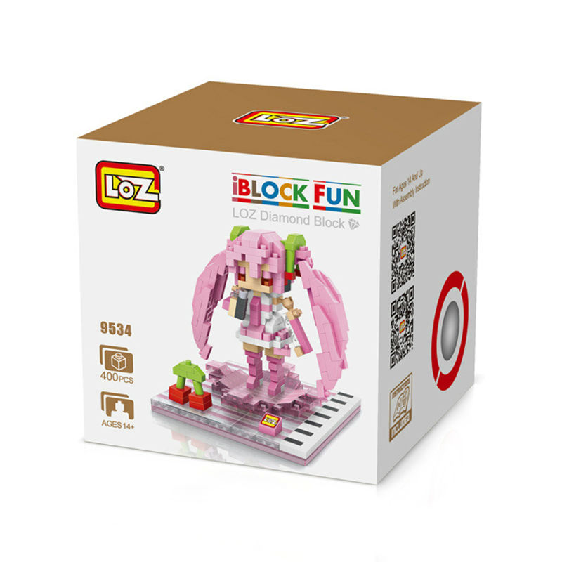 LOZ Mini Blocks Hatsune Miku Blocks Cute Girl DIY Building Bricks Anime Game Juguetes 3D Auction Figures Compatible With gift<br><br>Aliexpress