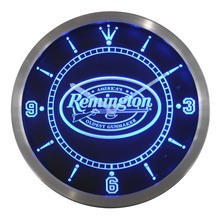 nc0185 Remington Firearms Hunting Gun Neon Sign LED Wall Clock