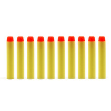 100 Pcs 2017 New Funny Toy Fluorescence Dart Refills Universal Standard Round Head Hollow Foam Bullets for Nerf Toy Gun For Game