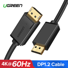 Ugreen DisplayPort кабель 4 К к 60 Гц DP 1,2 версия шнур Ultra HD 3D для HDTV PC видеокарты ноутбук проектор кабель Displayport(China)