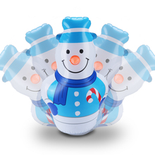 Funny 45cm Inflatable Christmas Snowman Decoration Gifts PVC Tumbler Toys for New Year Party Supplies Celebration Decorated
