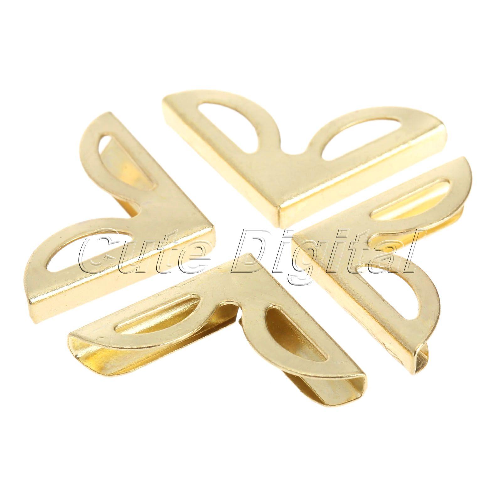100pcs 16x16mm Golden Decorative Metal Corner Brackets For Books Scrapbooking Photo Albums Menus Corner Protectors Crafts DIY<br><br>Aliexpress