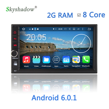 Android 6.0.1 Car DVD Player 8 Core 1024*600 HD Media Video For Universal Radio 2G RAM 32G ROM GPS Navigation WIFI
