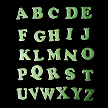 Work Well Big sales 26 English Letters PVC Wall Sticker Glow In The Dark Luminous for Child Room
